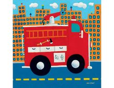 Fire Engine Canvas Wall Art
