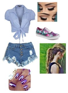 """""""Day in the Country"""" by lostforever2004 ❤ liked on Polyvore featuring QED London, Vans and country"""