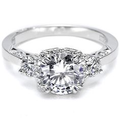 Tacori Engagement Ring w/ Pave-Set Diamonds