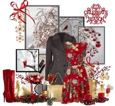 """""""Celebrate the Season"""" by gilleyqwyn ❤ liked on Polyvore"""