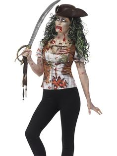 Women's Zombie Pirate Wench T-Shirt