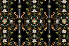 2 Folk Seamless Patterns by Sunny_Lion on Creative Market