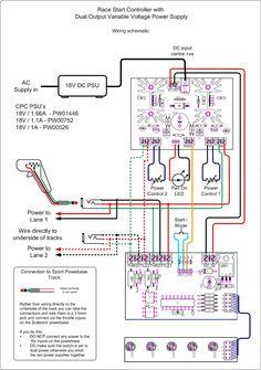 Wiring diagram Slot Cars Slot cars, Slot car racing