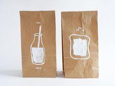 DIY custom brown paper bags for lunch!