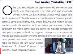 Grafados: Paul Auster - Timbuktu