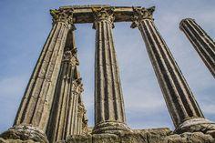 Templo Romano ou Templo de Diana em Évora - Portugal