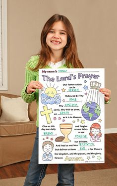 Lord's Prayer Color Your Own Poster - 50/PK