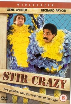 Stir Crazy (1980)  Skip and Harry are framed for a bank robbery and end up in a western prison. The two eastern boys are having difficulty adjusting to the new life until the warden finds that Skip has a natural talent for riding broncos with the inter-prison rodeo coming up.