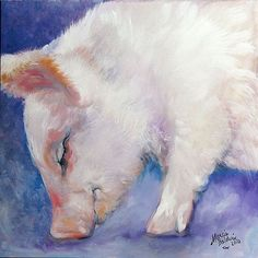 ...Art: HAIRY LITTLE PIG #1 by Artist Marcia Baldwin