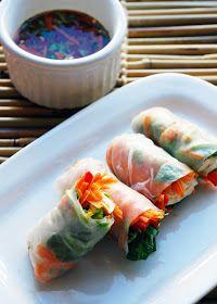 foodstuff: Vegetarian Salad Rolls with Nuoc Cham