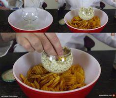 Melhor jeito de arrumar molho com batatas