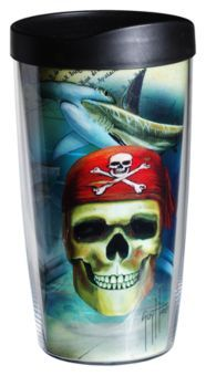 02506391689 Tervis Tumbler Guy Harvey Insulated Wrap With Lid - Pirate
