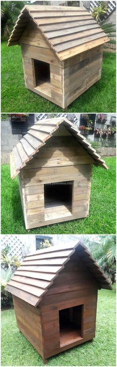 This is another dog house project that is amazingly designed out with the upcycle wooden pallets. This house is designed by keeping the dog house needs for your medium size dog, but you can also customize this pallet idea as according to the structure of your beloved dog. Its rustic beauty will definitely give you outdoor a delightful outlook impression.