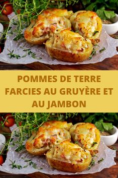 Potatoes stuffed with gruyère and ham - Recettes Astuces - coffee Recipes Freezer Meals, Easy Meals, Daisy Sour Cream, Main Dishes, Side Dishes, Coffee Recipes, Tasty Dishes, Potato Recipes, Appetizer Recipes