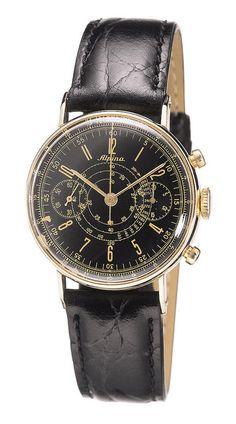 Alpina vintage pilot chronograph by Alpina Watches, via Flickr