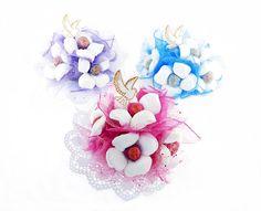 bukiety z chupa chups i kwiatów z krepiny dostępne 3 kolory na kwiatyupominki.net