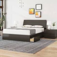 Up to Off on Mckain Platform 3 Piece Bedroom Set By Ivy Bronx - Price comparison Bedroom Furniture Wood Bed Design, Furniture Sets, Guest Bedroom Design, Bed Design, Furniture, Contemporary Bedroom Sets, Bedroom Sets, White Bedroom Furniture, Bedroom Furniture