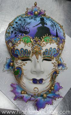 Venetian-Mask-Cake
