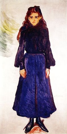 Young Girl in Blue Edvard Munch - 1904