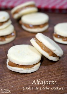 Creamy dulce de leche, sandwiched between two crisp and buttery shortbread cookies makes these Argentinian Alfajores a recipe worth indulging in for the holidays. | www.curiouscuisiniere.com