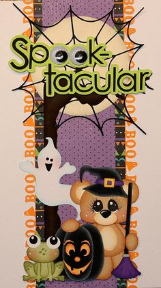 elite4u pmby julie halloween border for scrapbook pages album with paper piecing