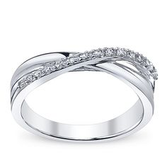Trending Ladies White Gold and Diamond Anniversary Band I ud really like this to be my wedding ring I like how it is pretty simple but unique