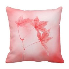 Japanese Maple Leaves in Red Throw Pillow  $31.35  by TianxinZheng  - cyo customize personalize unique diy
