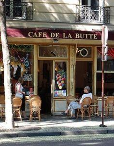 Le café de la Butte  rue caulaincourt   75018