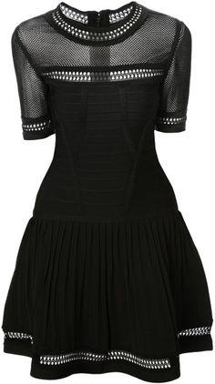 Lace Panel Dress - Alexander McQueen