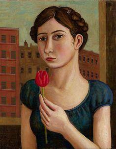 """portrait with red tulip"" | rick beerhorst"