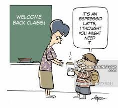 Espresso funny cartoons from CartoonStock directory - the world's largest on-line collection of cartoons and comics. Back To School Funny, Back To School Night, First Day Of School, Teachers Aide, Kindergarten Teachers, Teachers Pet, Back To School Lustig, Teacher Humour, Teacher Stuff