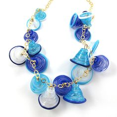 SariGlassman  Lampwork necklace  Handmade Glass by gaialai on Etsy, $77.00