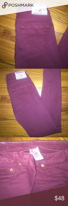 True religion burgandy jeans True religion jeans burgundy skinny size 27 True Religion Jeans Skinny