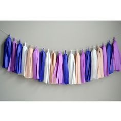 Purple Passion Tassel Garland  Tassel Garland  Decorate your special event with a fabulous tassel garland. Tassel Garlands are the newest party decor trend and compliment any theme beautifully. Available at Partystock.ca