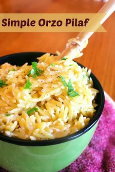 Simple Orzo Pilaf  *wonderful side dish ready in 10 minutes*