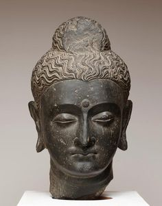 Head of Buddha. Date: 2nd–3rd century - Gandharan Buddhist art.