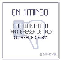 #En1min30 Facebook a déjà fait baisser le taux du reach de 3%