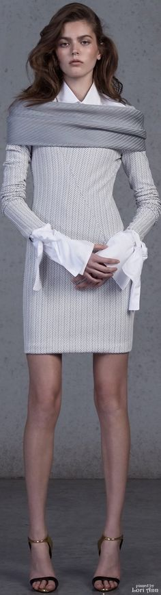 Maticevski Resort 2016 white sweater dress women fashion outfit clothing style apparel @roressclothes closet ideas