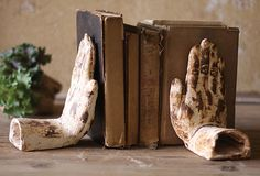 Pair of Hand Book Ends.