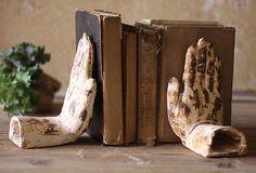 Pair of Hands Bookends on OneKingsLane.com