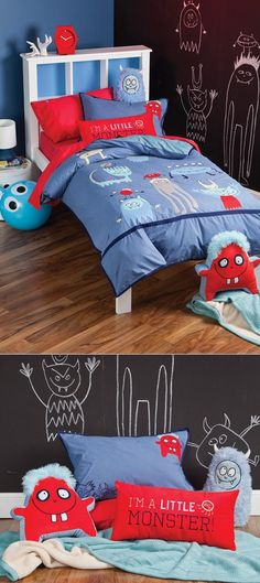 Really like the idea of a chalkboard paint wall for kid's room :)