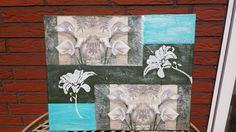Acrylbild / Leinwand  Lilie  Gr. 40 x 50 cm 100% HANDARBEIT
