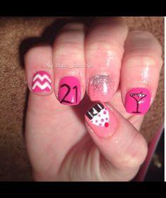 Nails on Pinterest   Birthday Nails, Birthday Nail Art and Shellac