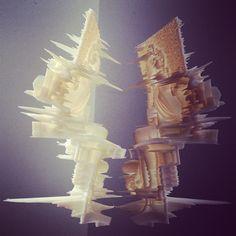 Nick Knight's sculpture of Daphne Guinness.  3D print.  Scanned by his friend Kev Stenning at Rapido3D. #3dPrintedArt