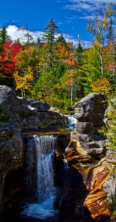 Screw Auger Falls in Grafton Notch State Park, Maine  USA