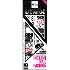 NCLA Nail Wraps, Sealed With A Kiss 1 ea ($12) ❤ liked on Polyvore featuring beauty products, nail care, nail treatments and ncla
