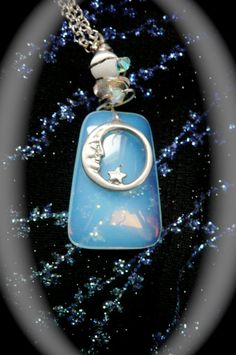 moon jewelry necklace handmade jewelry moons by MoonHeartStudios, $54.00