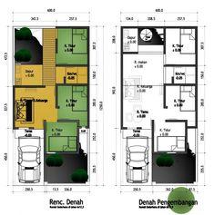 denah rumah 3 kamar ukuran 7x12 3