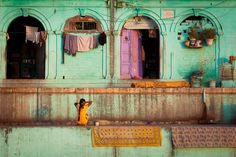Varanasi Woman getting ready for a new day...