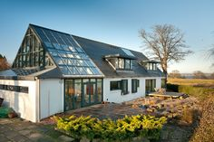 This four-bedroom environmentally friendly house near Edinburgh, Scotland was built by its current owners seven years ago on the site of the home they had lived in for more than 15 years. (Credit: Knight Frank)